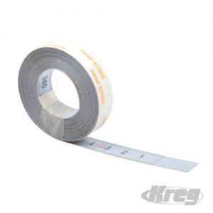 3,5m lange zelfklevende meetband, Rechts naar Links naar  (metrisch schaal verdeling)