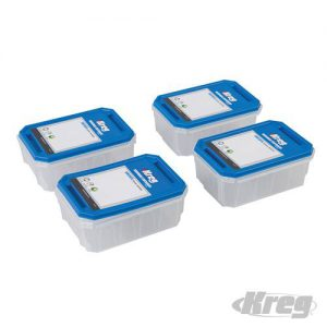 Kreg Transparante bakjes met afsluitbare deksels klein (verpakt per 4)