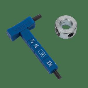 Kreg Easy-set Dieptestop materiaaldiktemeter ( met inbussleutel )  voor pockethole boor