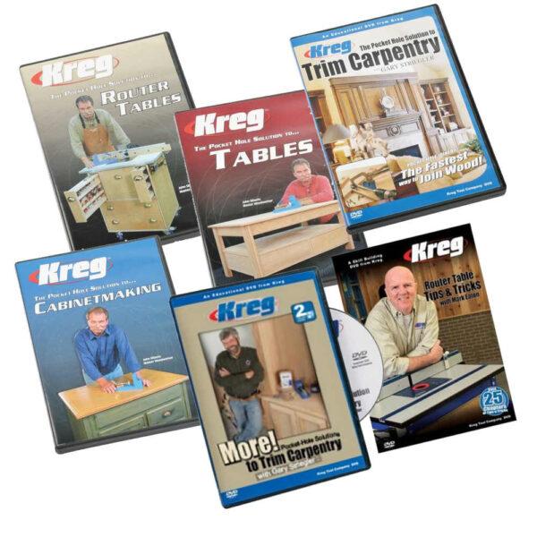 Complete Kreg Instructie DVD bundel (30% voordeel)