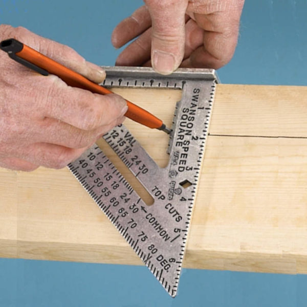 Swanson metrische dakdekker meetdriehoek 25 cm